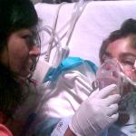 Junge im Krankenhaus